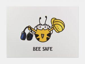 Fleißbienchen-Postkarte: Bee Safe