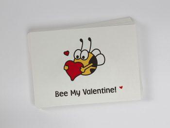 »Bee My Valentine« Postkarte