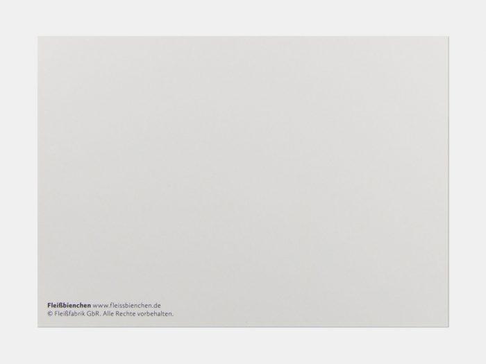 Fleißbienchen-Postkarte: Rückseite