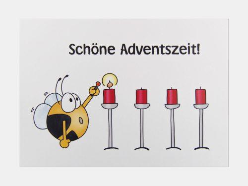 Fleißbienchen-Postkarte: Schöne Adventszeit