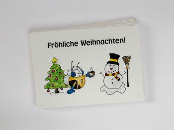 »Fröhliche Weihnachten« Postkarte