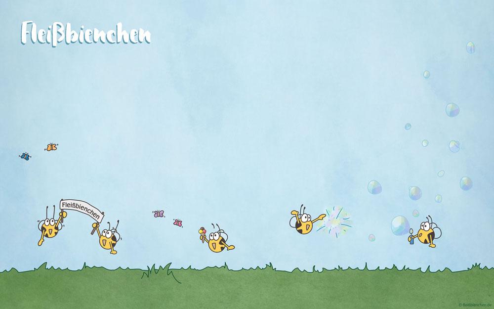 Fleißbienchen: Wallpaper Sommerwiese
