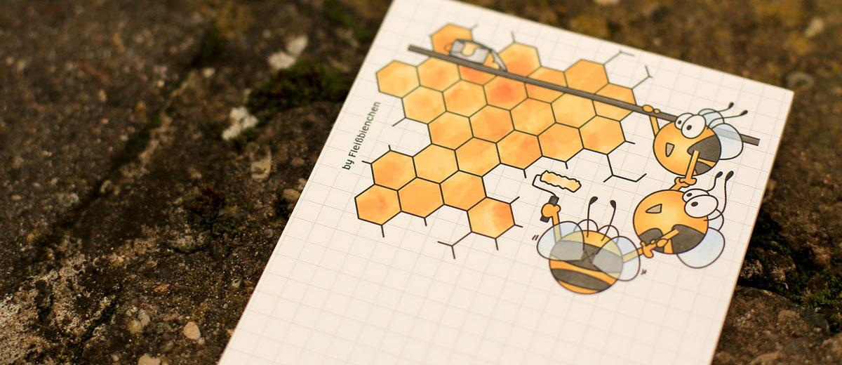 Fleißbienchen-Notizblock