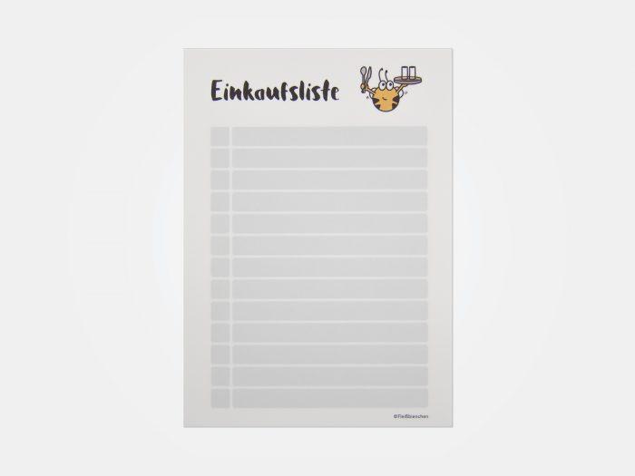 Fleißbienchen-Block »Einkaufsliste«