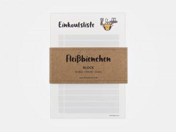Fleißbienchen-Block »Einkaufsliste« Mit Banderole