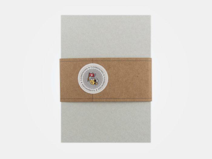 Fleißbienchen-Block, Rückseite mit Banderole