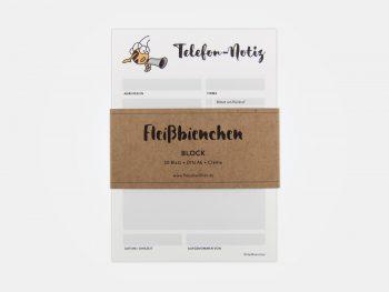 Fleißbienchen-Block »Telefon-Notiz« Mit Banderole