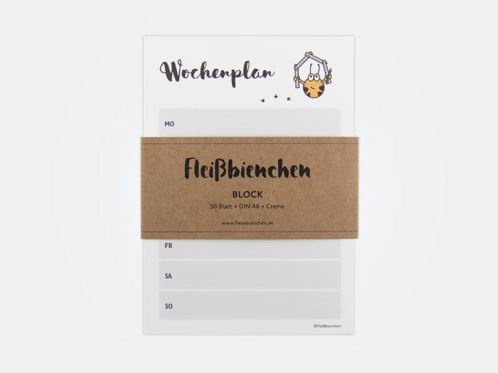 Fleißbienchen-Block »Wochenplan« mit Banderole