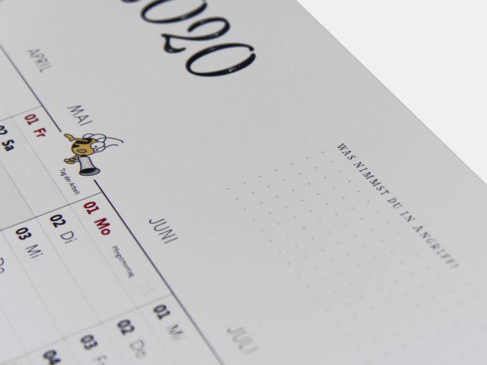 Fleißbienchen: Wandplaner 2020, DIN A2