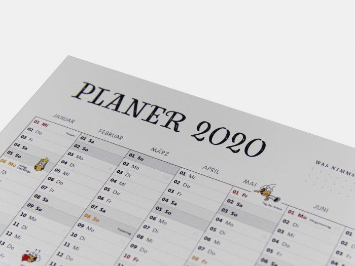 Fleißbienchen: Wandplaner 2020, DIN A3
