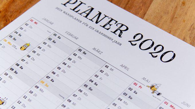 Fleißbienchen-Jahresplaner 2020