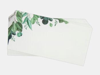 Blätter, Umschläge/Kuverts (20 Stück)